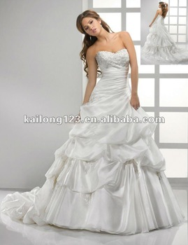 Sweetheart Detachable Cap Sleeves Full A-line Chapel train Crystal Lace Organza Bridal Wedding Dress