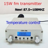 NEW! Freeshipping 15W stereo PLL best FM transmitter  FM transmiter radio broadcast station  87.5-108MHZ Silver +Power Supply