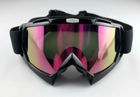 5pcs/lot Motorcycle Dirt Bike ATV Off-Road Ski Goggles Colored lens with Black Frame  snow goggles