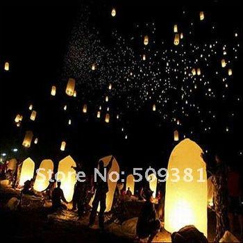 250 pcs/Lot,Free Shipping, Cylinder-Shaped Chinese Conventional Festival Flying Sky Lanterns, Wishing Lanterns(China (Mainland))