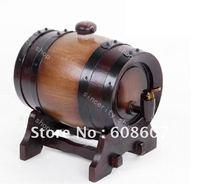 free shipping 5L wooden Oak Wine Aging wood Barrel Rum Cask Beer Keg