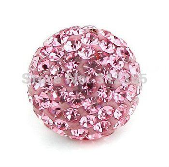 Wholesale 12mm pink Shamballa beads, New Shamballa crystal bead Micro Pave CZ Disco Ball beads, free shipping,