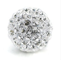 Wholesale 12mm white Shamballa beads, New Shamballa crystal bead Micro Pave CZ Disco Ball beads, free shipping,