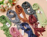 Free shipping!! 10pcs baby fashion scarves,stripe scarf,boys/girls cotton scarve