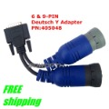 "New 6 & 9-Pin Deutsch ""Y"" Adapter PN405048 NEXIQ 125032 USB link Connector"