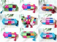 Free shipping! 30pcs New Fashion Women  18 collage Lady  Wallet/Purse Handbag makeup bag,Coin Bag case