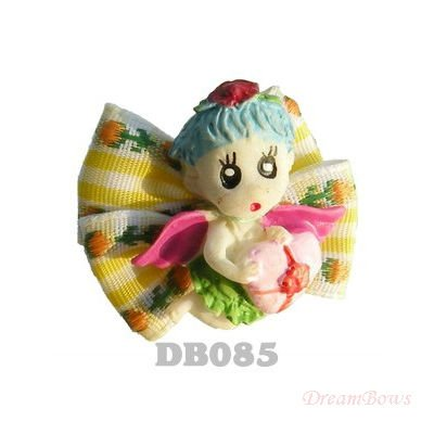 Handmade Accessories for dogs Angel doll core Ribbon Bow DB085. Dog bows, Pet supplies.(China (Mainland))