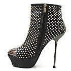 Туфли на высоком каблуке Stylish Clear Crystal 14.5cm Platforms High Heel Shoes, Pole Dance/Model Shoes, Ankle Boots, Bootie