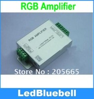 Free shipping RGB Amplifier  12V 12A  4A*3 channels output LED Controller   [LedBluebell ]