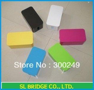 Cretive design Cable box Mini color Wire Storage Box,computer,free shipping   D17984SL