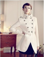 HOT SALE--  Spring  Women coat fashion overcoat/ Napoleon military uniform double breast winter coat /jacket outerwear/ Jacket
