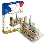 Free shipping, Notre-Dame de Paris DIY 3D three-dimensional puzzle, 3d puzzle,world's great architecture, wholesale price