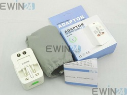 Free shipping Universal AC Main Power Socket Plug Adapter EU UK US AU 100%New High quality By Post Air Mail ONLY 12pcs/lots(China (Mainland))