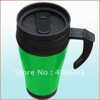 Hot selling 350ml Stainless Steel Travel Mug/Auto Mug,2012 16OZ plastic insulated thermos travel mug tumbler