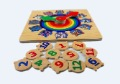 Free shipping(1pc) Educational wood puzzle/Jigsaw puzzle/Wooden Colorful clock PUZZLE/wood toy/Kids' gift