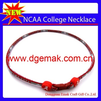 "100pcs/lot HOT US college titanium necklace ""ncaa""""Nebraska Cornhuskers""single necklace of  Alabama State University"