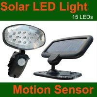 """15 off per $150 order"" Solar Powered PIR Security Flood Light +15 BRIGHT LEDs Lamp+Motion Sensor/Detector+Solar Panel Lighting"