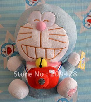 Free shipping, Doraemon photographer toy , Doraemon Doll photographer,  plush stuffed Doraemon,birthday, birthday graduate gift