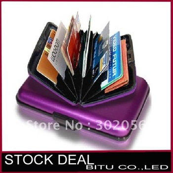 2pcs/lot 8 Color in stock Aluminum Credit card cases ,credit card Wallet H014p