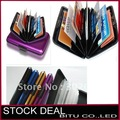 50PCS/LOT free shipping 8 color in stock Aluminum Credit card cases H014