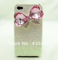 Bling blingy crystal bow cover case for iphone 4 A85