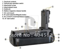 Free Shipping MeiKe Battery Grip for Canon EOS 60D BG-E9 BGE9 ,Camera grip, Super feel Camera grip
