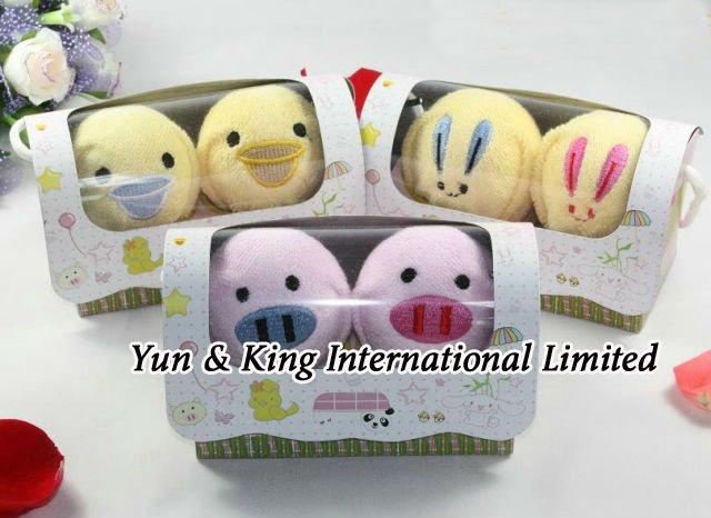 Super Deal~Accept Credit Cardl/Wholesale 10sets New Cotton Towel duck shape towel cake towel(China (Mainland))