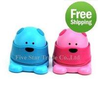 Free Shipping/Small Order 5pcs New Novelty plastic bear shape no staple stapler