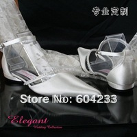 HS2020,free shipping wholesale 2012 custom make elegant cheap price big sizes pointed toe beads white wedding shoes,euro 35-44