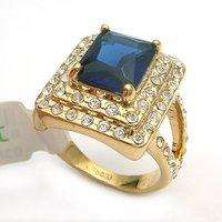 wholesale -------Beautiful blue zircon crystal ring size: 7.8.9