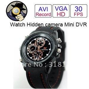 Waterproof 8 GB Watch Hidden Digital Video Camera 1280*960 AVI 8GB Memory Card Mini Camcorder DVR Free Shipping