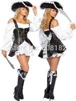Fancy Dress Sexy Pirate back  Halloween Costume Cosplay Dress hlx025