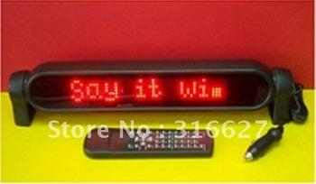 LED Car display PH460-Blue color Car LED Display/LED lamp based dot matrix P7.62