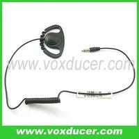 For shoulder mic an speaker mic listen only ear hook earpiece 2.5mm plug