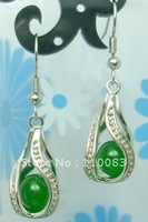 Freedom deliver*************Beautiful Tibet Silver Jewellery green jade Earring