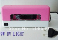 Excellent Quality CE PINK 9W UV GEL CURING LAMP FOR NAIL ART COLOR GEL  PRO TOOL WHOLESALE-018B