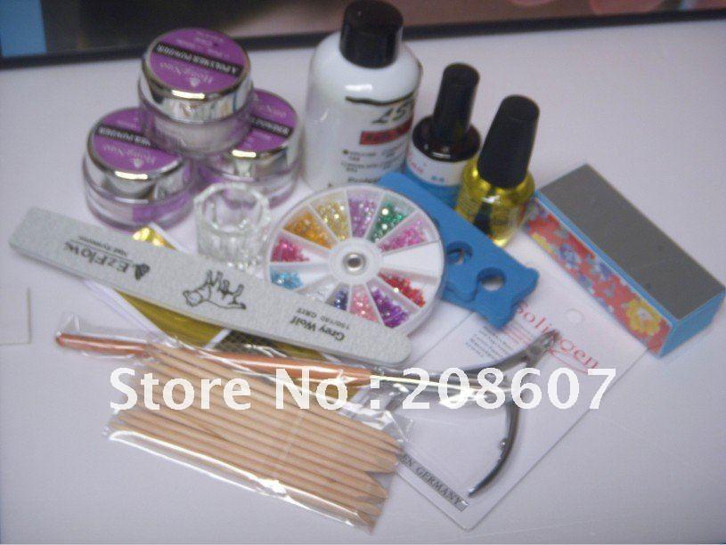 Acrylic nail kit freeshipping 12kinds set professional for Acrylic nail prices at a salon