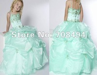 Free shipping new colorful stylish beading ball gown cute Flower Girl Dresses for the flower girl children-perfect gowns