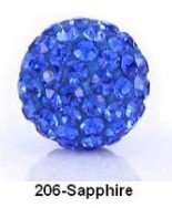 New Arrival Shamballa Beads Sapphire Pave Crystal Round Ball Wholesale Beads Size 10mm Green Free Shipping S206(China (Mainland))