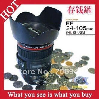 Free Shipping! 6pcs Popular Eloped Money Cans Lens Cup Money Pot Piggy Bank Saving Box Money Bank Coin box -- PB11 Wholesale