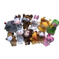 Free Shipping Cartoon Animal Finger Puppet,Finger toy,finger doll,baby dolls,Baby Toys,Animal doll 60pcs/lot (12pcs/bag)