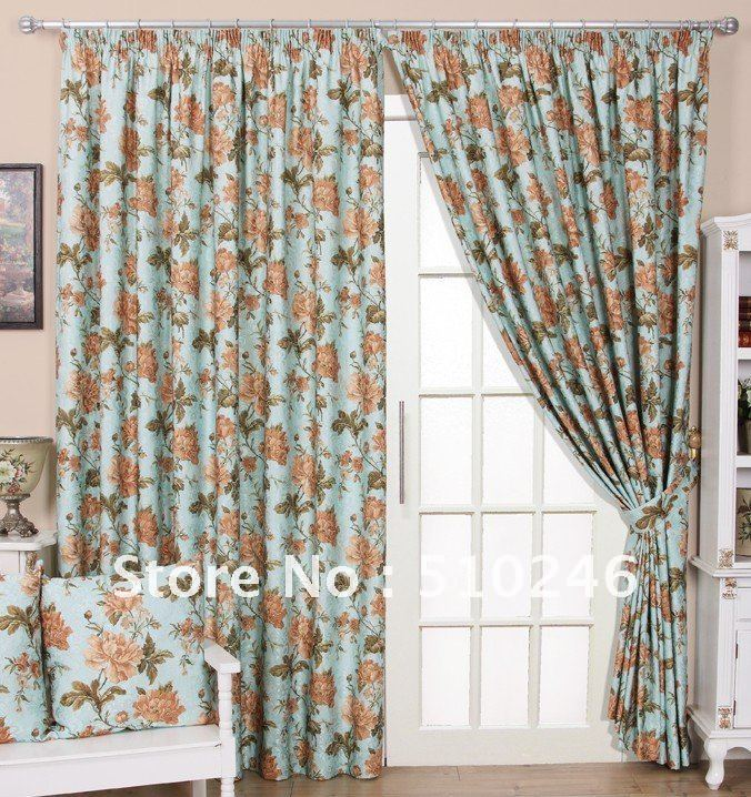 new arrival customized chenille jacquard ready made livingroom door window drape rod loop curtain drapery