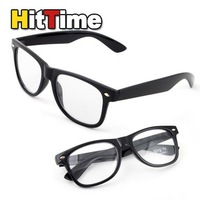 Black Frame Clear Lens Formal Polite Plastic Glasses  [3022|01|01]