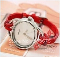 promotion leather watch hand-knitted rope watch women' watch jelly watch high quality wrist watch best gift