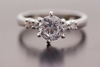 Gorgeous 9k Solid White Gold White Sapphire Ring SZ7.5 P112,Gold Ring,Free Shipping,