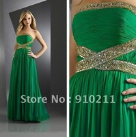 Custom Made 2012 Summer Glamorous Lime Green Cheap Cute Christmas Green Prom Dresses