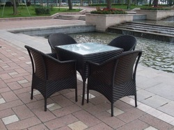 2012 hot selling dinning furniture set/outdoor garden rattan table and chair PF0-6012(China (Mainland))