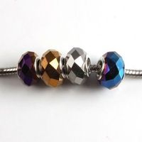 Wholesale - 40x New Fashion Jewelry Mixed Crystal Glass Charms Beads Fit European Bracelets 150991