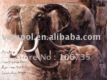 Abstractas cuadros de la pintura del elefante de muebles