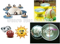 3D  5PCS Aluminium Ball Baking Mold Decorating modelling tool fondant BAKEWARE Cake tools Cookie Mold